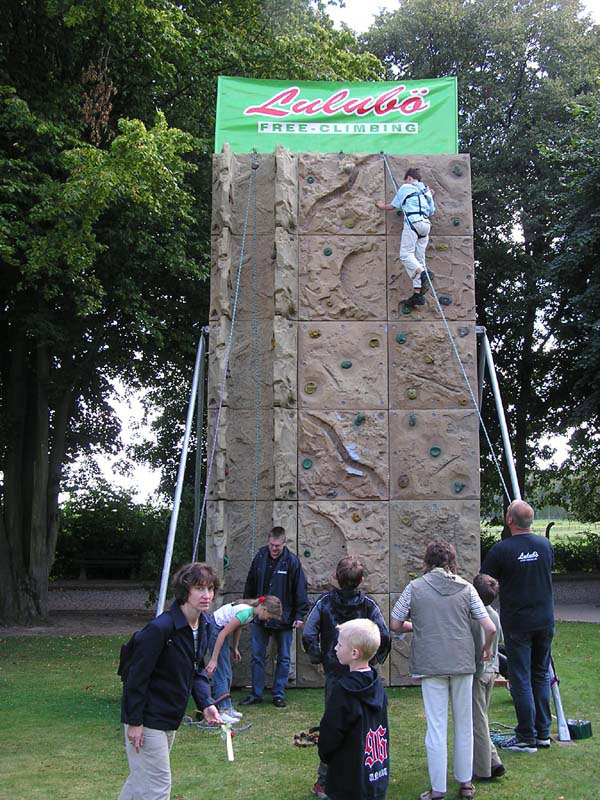 Kletterwand - auch mit eigener Werbung