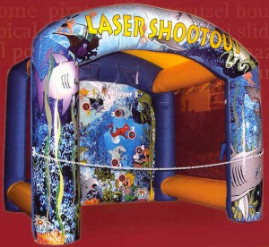 Laser Shootout Geschicklichkeitsspiel