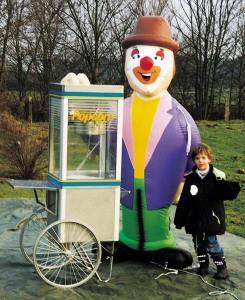 Popcornmaschine auf Rädern